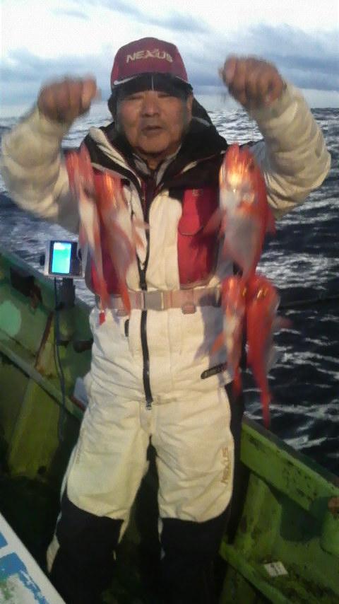 初島周りのキンメ釣り