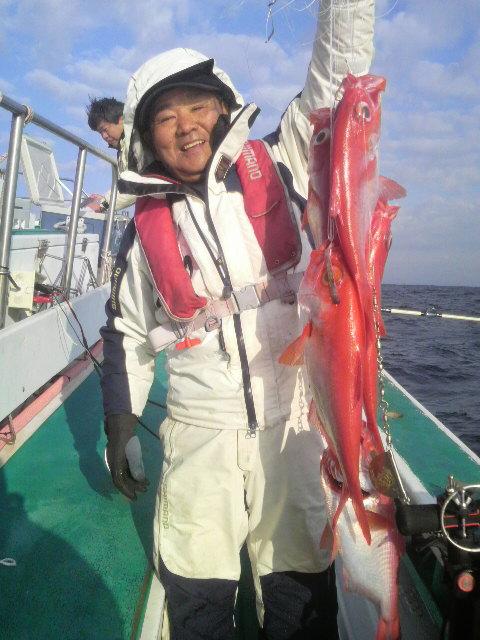 下田沖のキンメ釣り