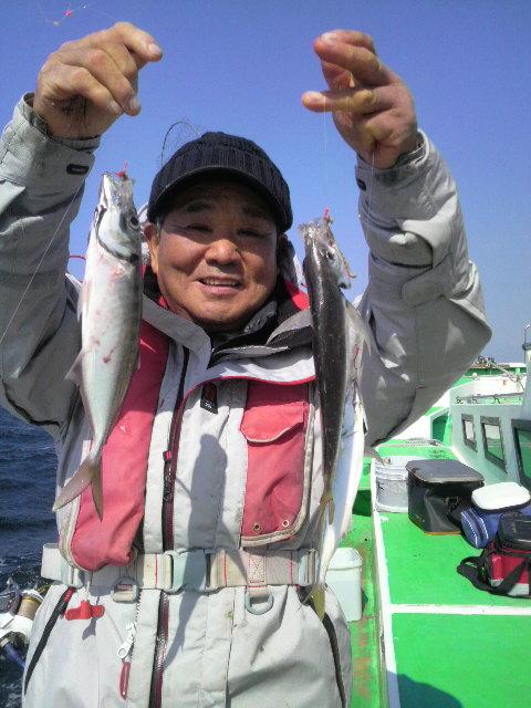 ヤリイカ釣りがマアジ釣りに…