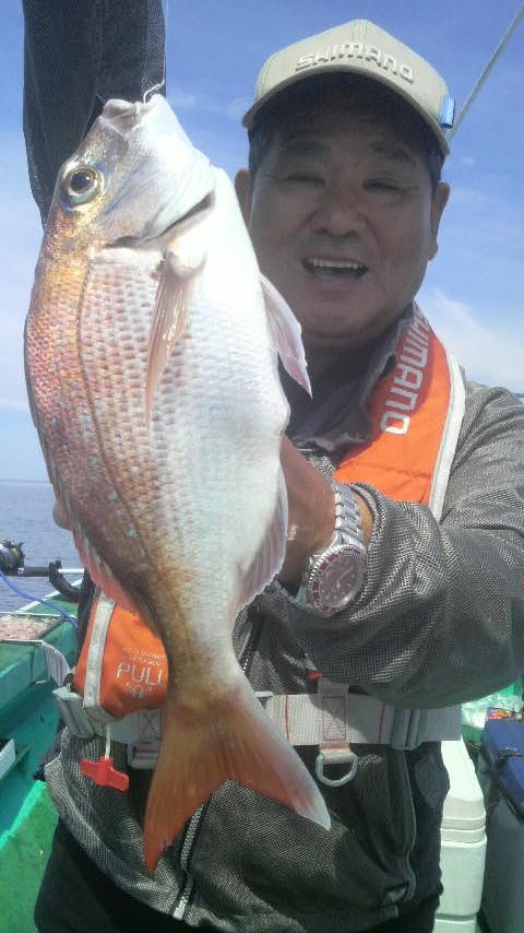 寺泊沖のマダイ釣り…