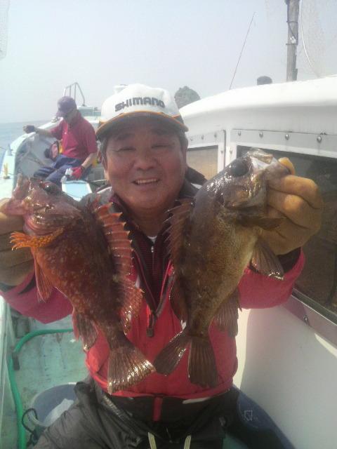 カサゴ五目釣りで〜すよ〜