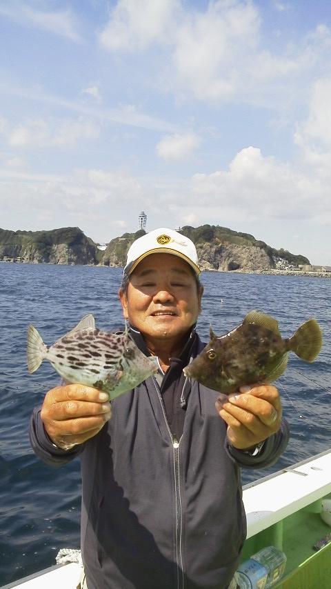 カワハギ釣り…です〜