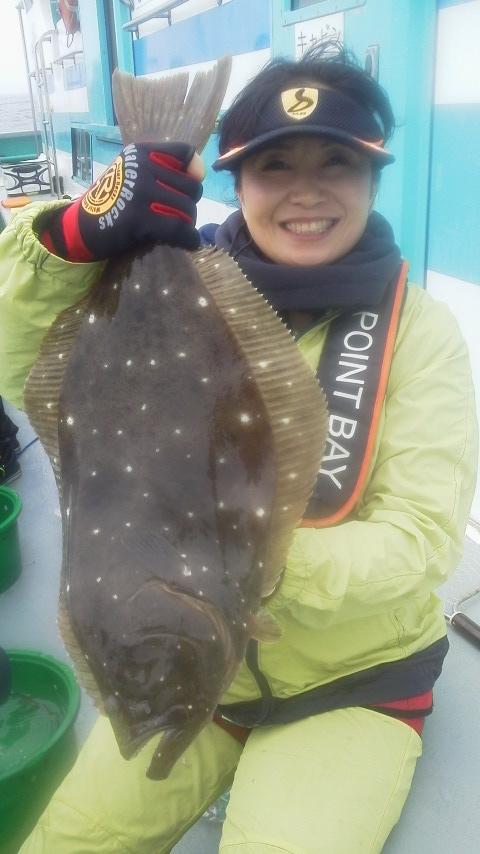 永井会の例会で…ヒラメ釣りに〜