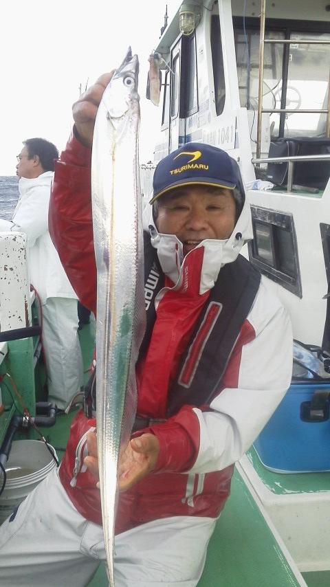 金沢漁港・鴨下丸のタチウオで〜す…