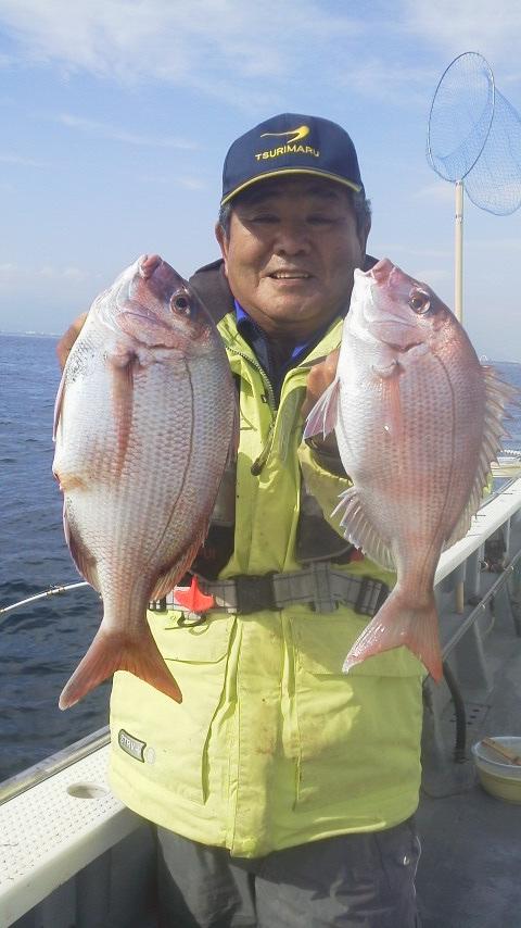 茅ヶ崎・海成丸のマダイ五目釣り…