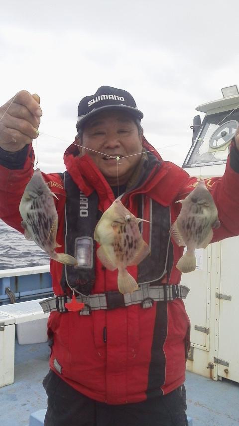剣崎・佑幸丸のカワハギ釣り…