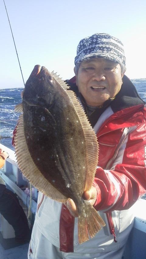 大原港・力漁丸のヒラメ…