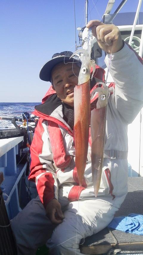 鹿島新港・幸栄丸のヤリイカ釣りに…