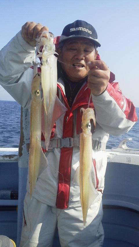 鹿島旧港・不動丸のヤリイカ釣り…