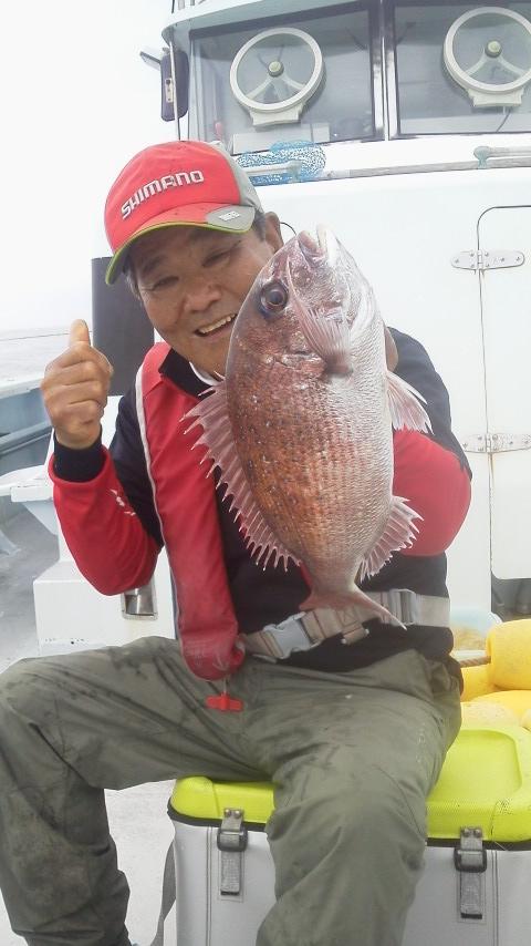 南房白間津・松大丸のマダイ釣りに…