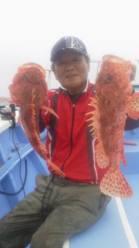 大原・春日丸のオニカサコ釣りに…