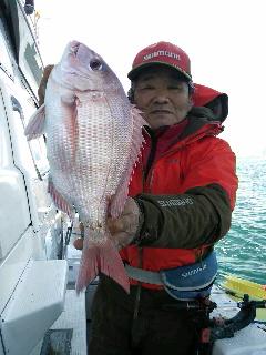 2日続きのマダイ釣りに…
