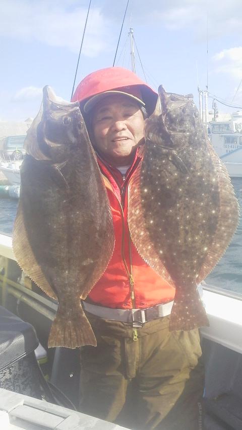 ヒラメ釣りに〜〜
