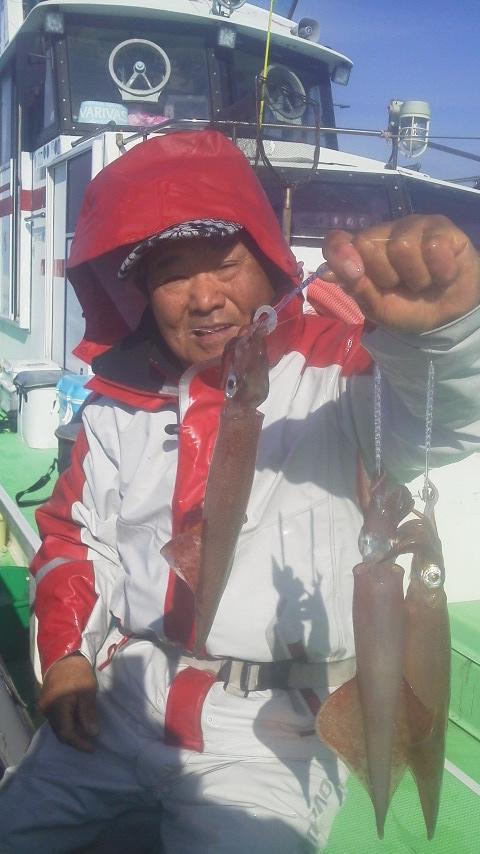 ヤリイカ釣り…に………