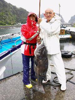 イシナギ釣りに…