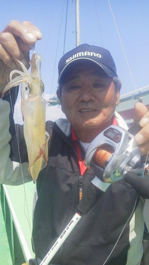 マルイカ釣りに……