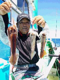 スルメイカ釣りに…
