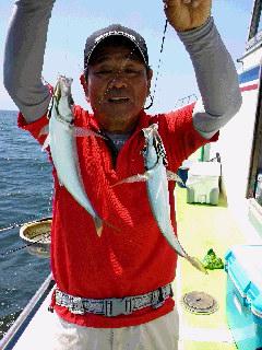 ビシアジ釣りに……
