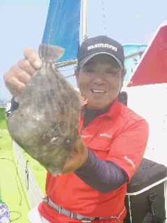 夏カワハギ釣りに…