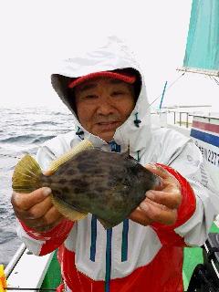 カワハギ釣りで……