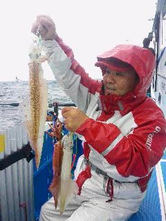 ヤリイカ釣りに……