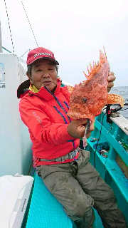 オニカサゴ釣りに…