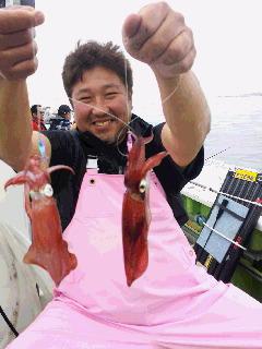 マルイカ釣りの取材に…
